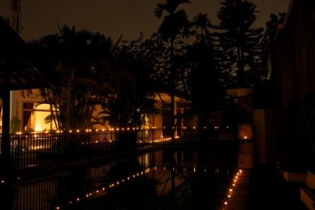 Diwali lights around the house
