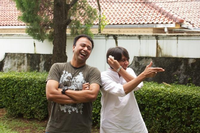 Posing with Uju