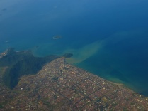 Aerial view of the coast