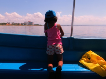 Girl on a boat