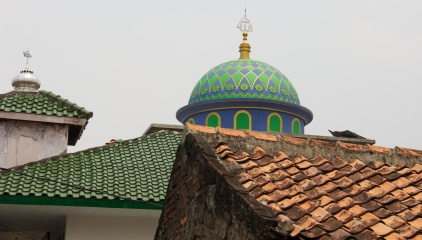Traditional roof and Masjid dome