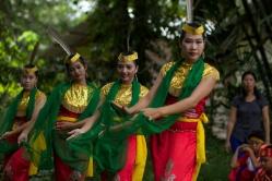 School kids performing a welcome dance