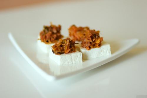 Tofu with tuna kimchi