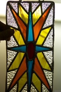 Stained glass art at Sara's