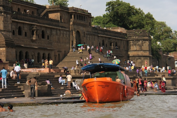 Along the ghat