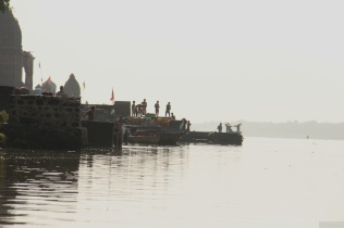 On the ghats of Narmada