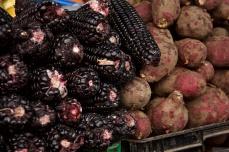 Black corn and red potato