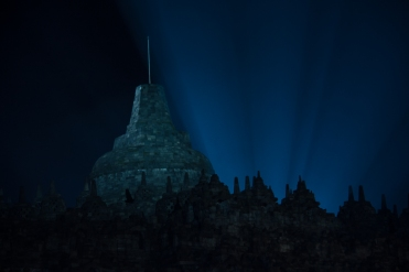 Borobudur by night