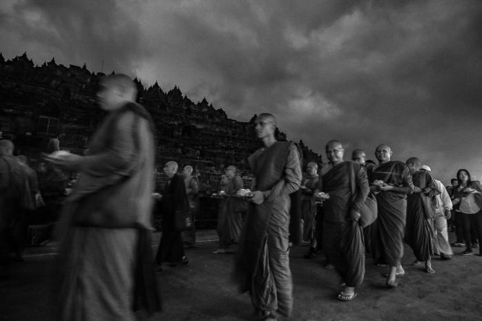 Pradakshina at Candi Borobudur
