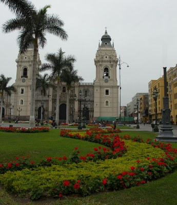Lima Cathedral in Plaza de Armas
