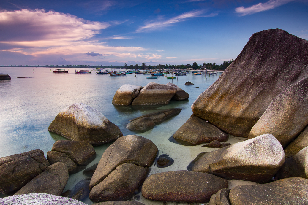 Rocks and Boats and a Fishing Village